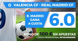 Paston Megacuota Liga Santander: Valencia vs Real Madrid 27 enero