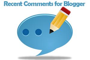 Recent Comments Widget for Blogger