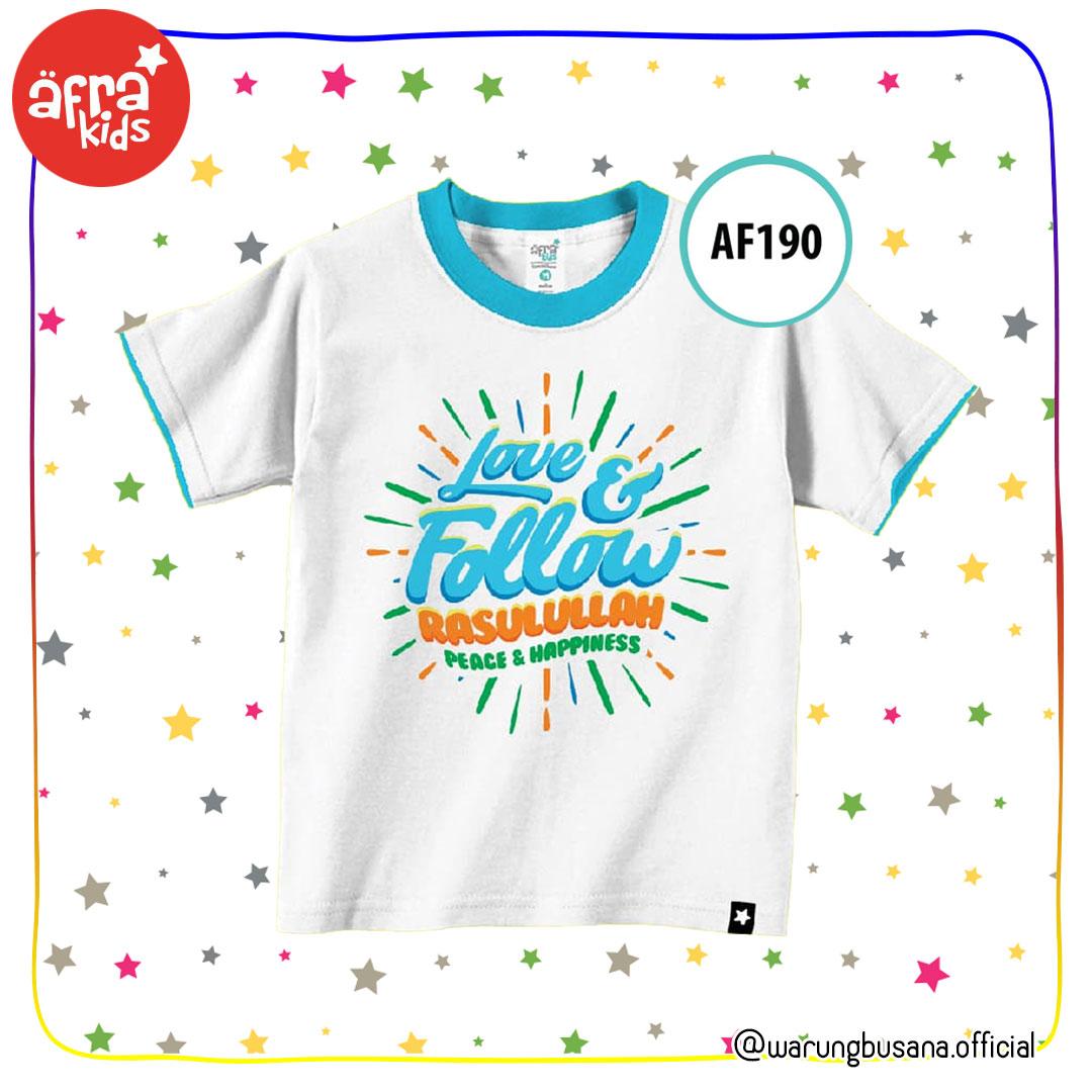 Afrakids Kaos Anak AF190 Love&Follow Rasulullah
