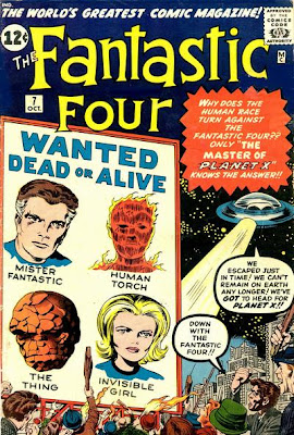 Fantastic Four #7, Kurrgo, Planet X, flying saucer, wanted, dead or alive, baying mob, worlds greatest comic magazine