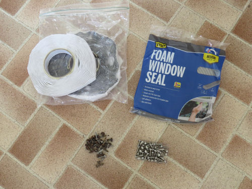 supplies to reinstall aluminum windows in Companion fiberglass trailer