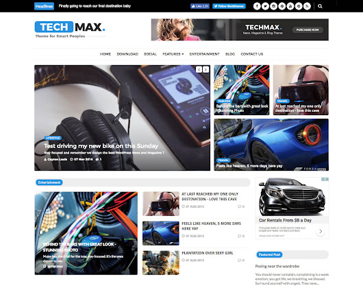 Techmax Technology Blogger Template | OddThemes