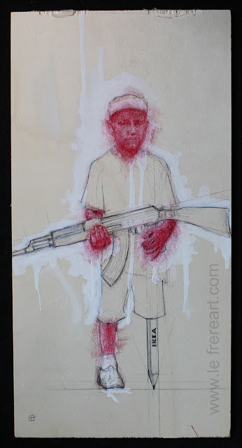 """ikea"", ""Franco"",""20-N"",""liquitex"",""niño soldado"",""guerra"",""dibujo"",""pen"",""drawing"",""acrylic"",""liquitex"",""inauguration"",""artwork"",""bic"",""child soldier"""