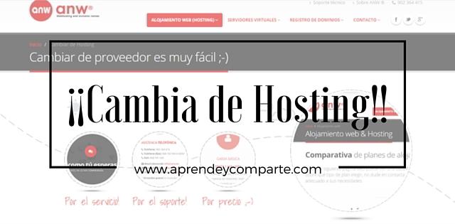 cambia de hosting para tu blog