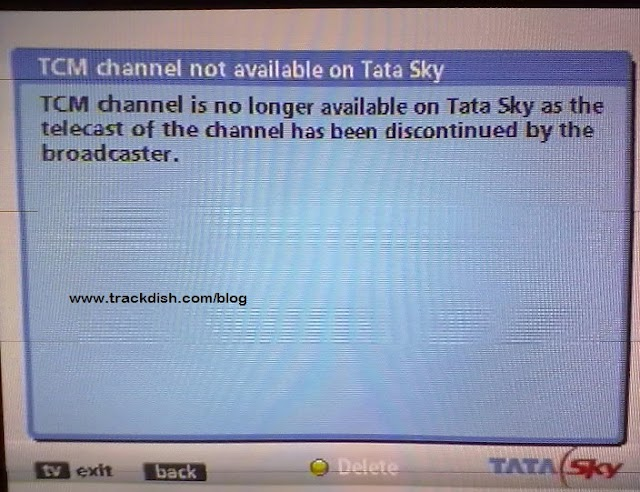 TCM ( Turner Classic Movies) Channel Removed from TATA Sky
