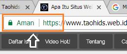 Contoh situs web yang aman untuk dikunjungi