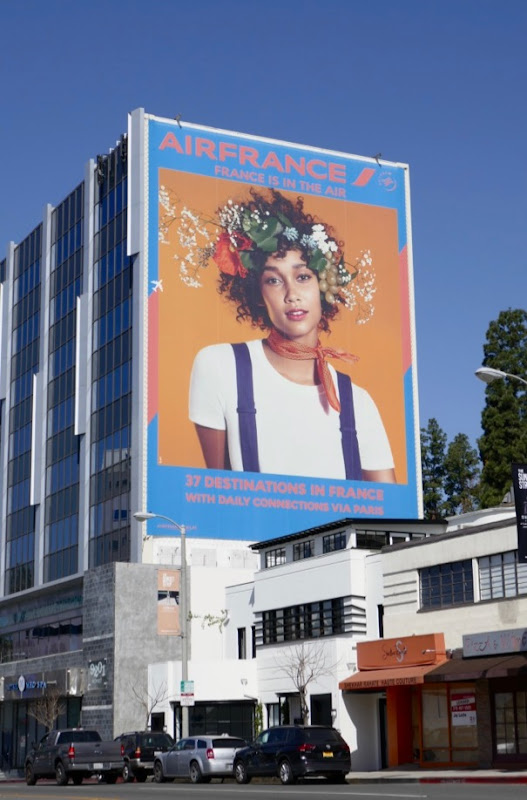 Giant Air France 2018 airline billboard
