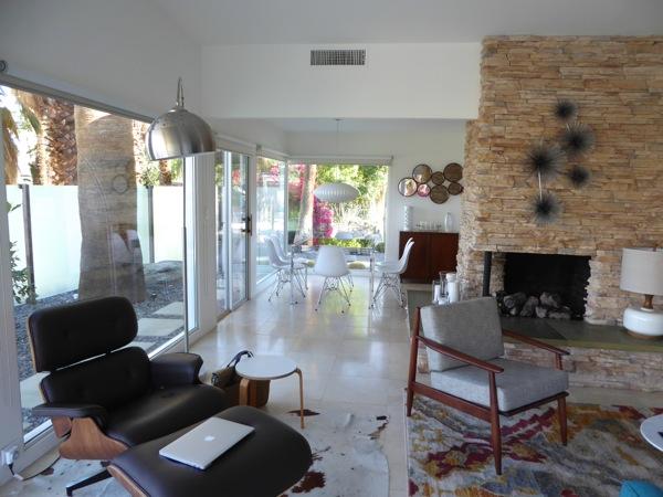 Palm Springs house interior