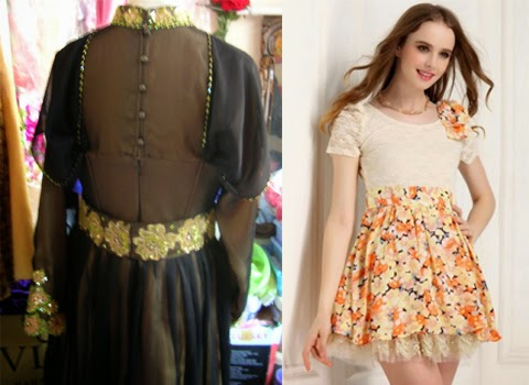 model baju dress brokat orang gemuk terbaru
