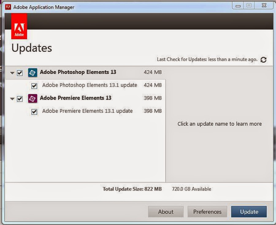ATR Premiere Elements Troubleshooting: PE 13: Adobe Releases