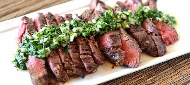 Flank Steak With Cilantro Sauce Recipe