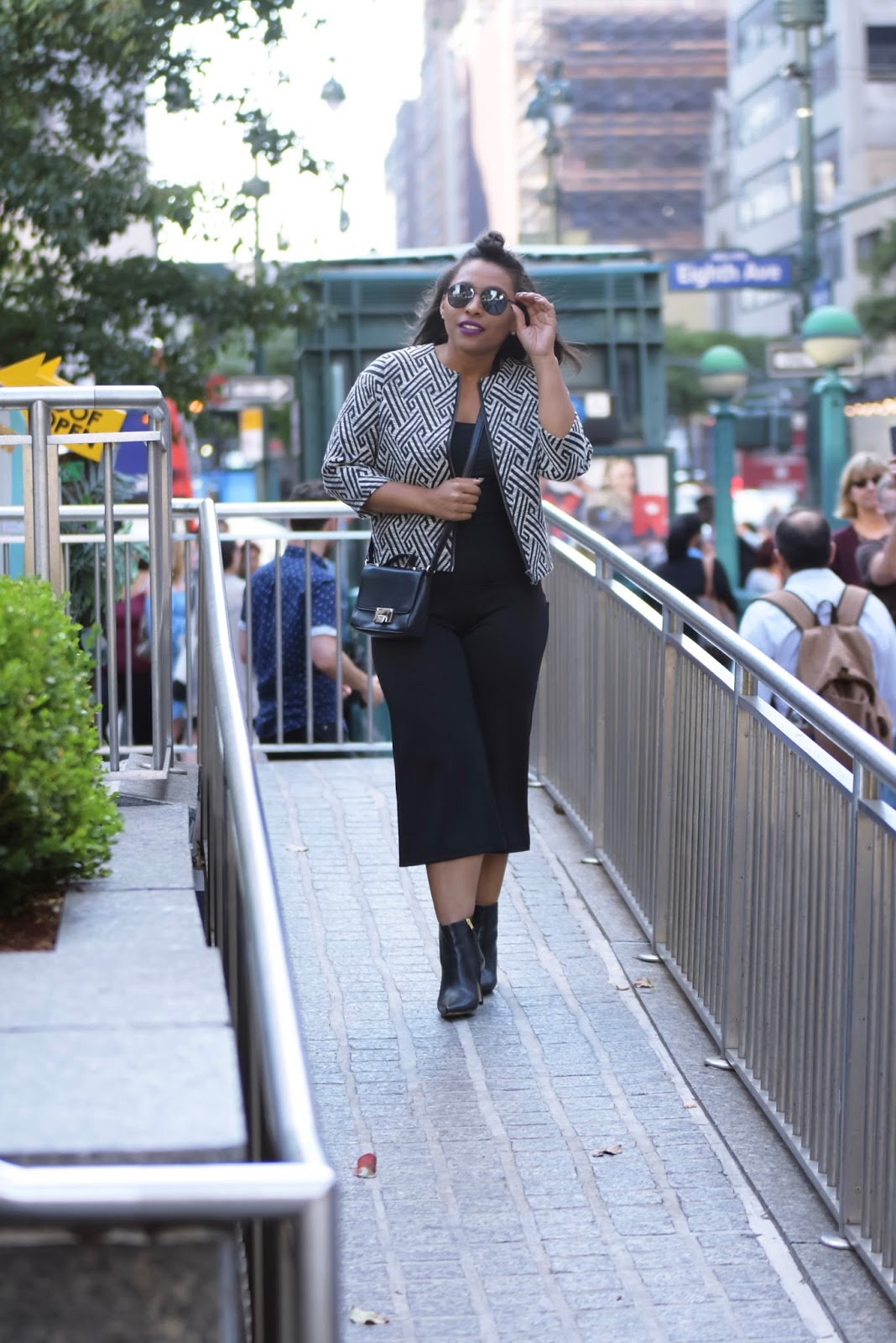 NWFW, nyfw 2017, spring/summer 2018, nyfw streetstyle, fashion week, Cindy Monteiro, Galtiscopio, Vaishali, cullotes, printed blazer