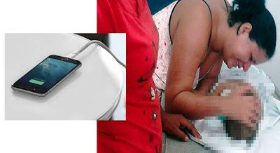 Bebê morre eletrocutado ao colocar cabo de celular na boca em Teresina