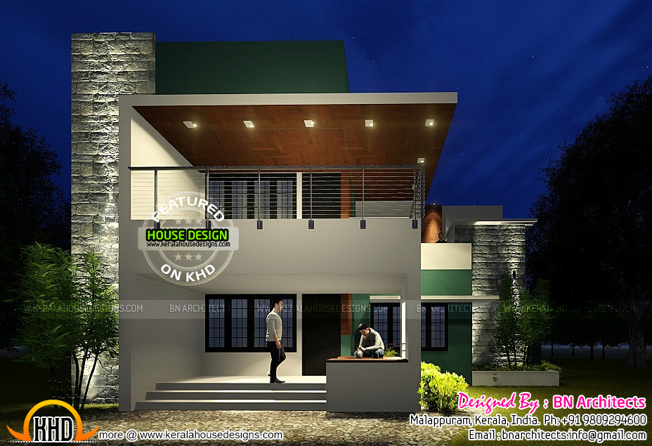 Front Elevation Of 120 Sq Yards House : Contemporary house with floor plan by bn architects
