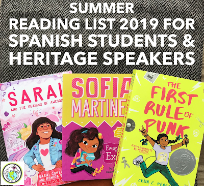 Summer Reading List 2019 for Spanish Students in Elementary School