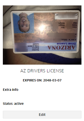 uber Drivers License