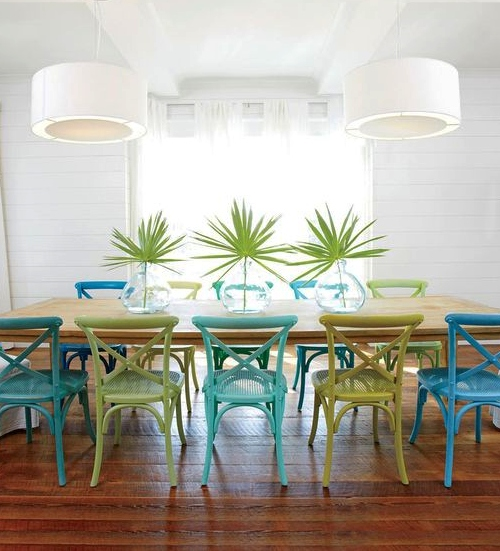 Coastal Designer Dining Room Tabletop Styling Idea