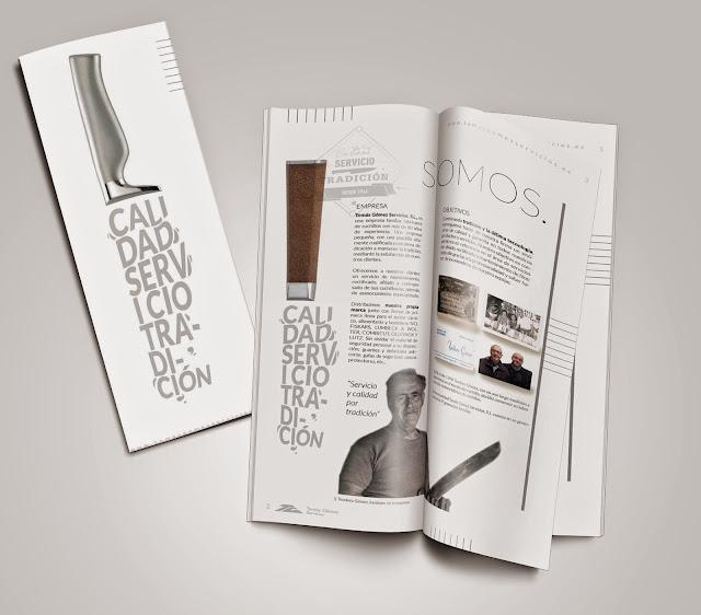 catalogo brochure TOMAS GOMEZ diseño ilustracion Valencia Gustavo Solana