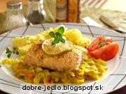 Pečený losos s kelovým šalátom - recept