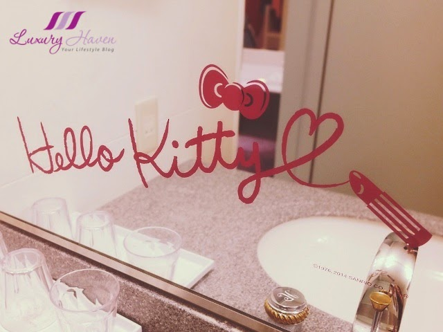 keio plaza hotel hello kitty decals mirror