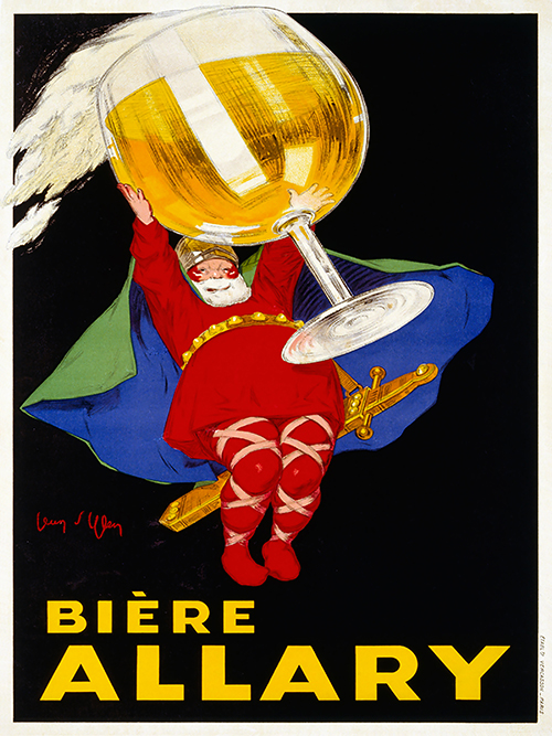 Biere Allary by Jean D'ylen - Vintage Beer Advertising Poster, advertising, classic posters, food, free download, free posters, free printable, graphic design, printables, retro prints, vintage, vintage posters, vintage printables