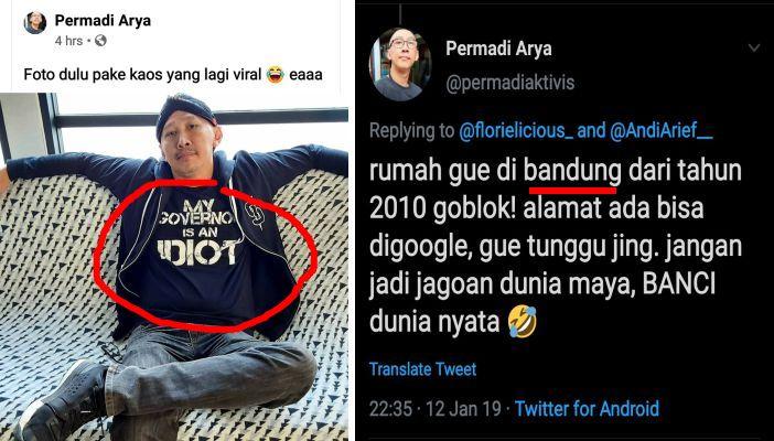 Abu Janda Pakai Kaos Gubernur Saya Idiot Maunya Hina Anies Ternyata Tinggal Di Bandung Yang Kena Gubernur Jabar Portal Islam