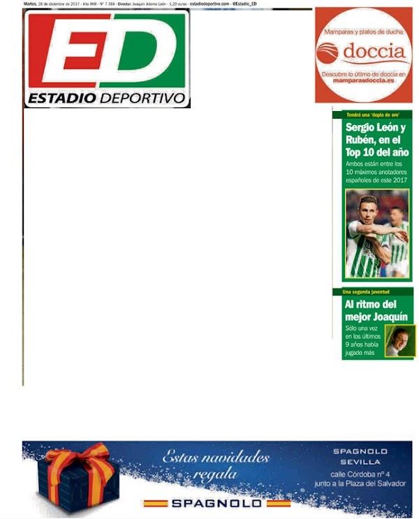"""Betis, Estadio Deportivo: """"Sergio León y Rubén, en el top 10 del año"""""""