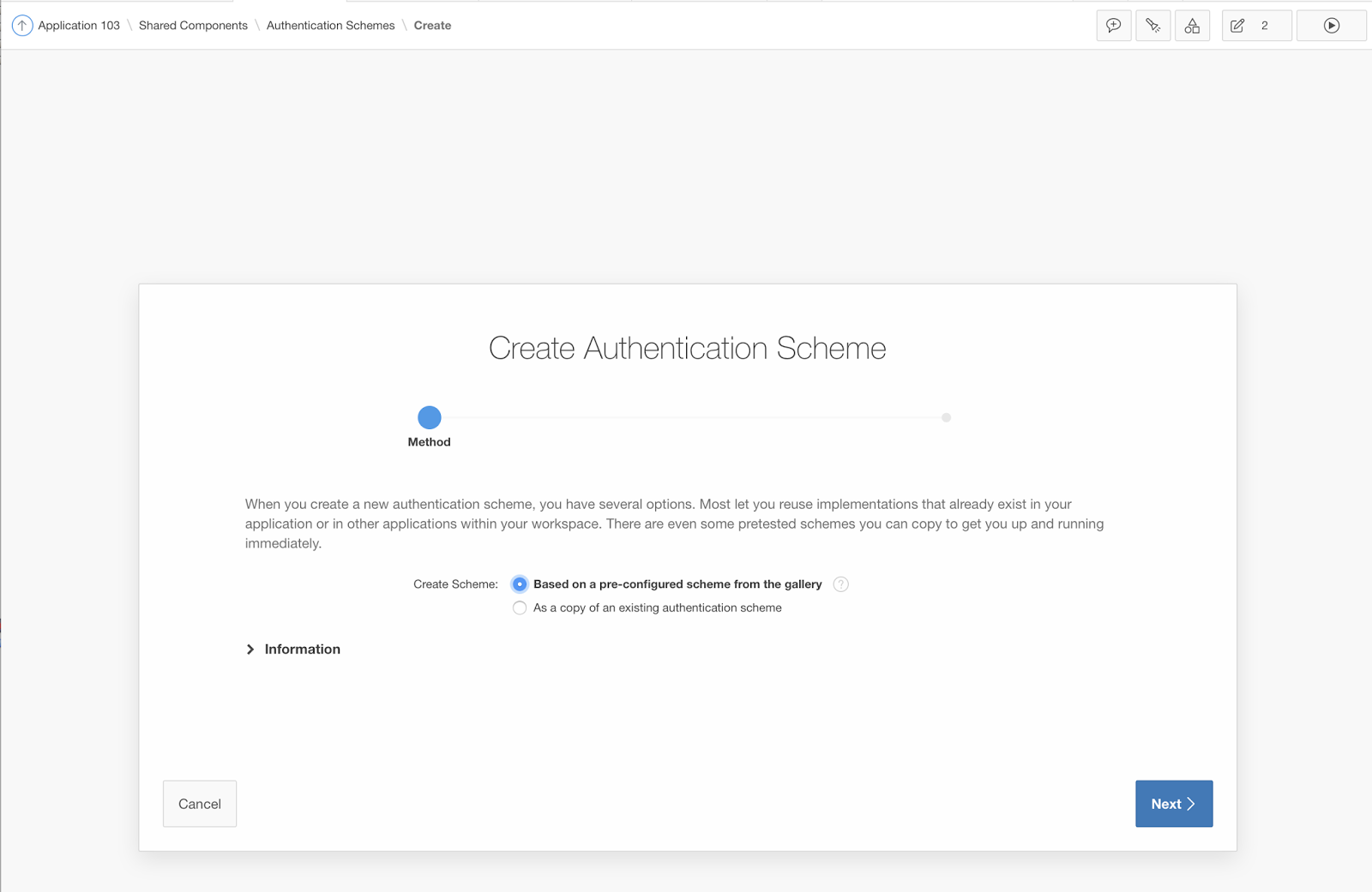 Dimitri gielis blog oracle application express apex create a enter the customauthenticate procedure from the package we created earlier malvernweather Choice Image