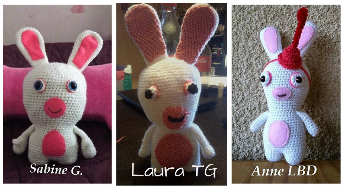 2ième Partie-Lapin crétin- Amigurumi - Pattes du lapin- Crochet ... | 660x1200