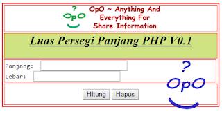 OpO - Menghitung Luas Persegi Panjang Menggunakan PHP Dan HTML