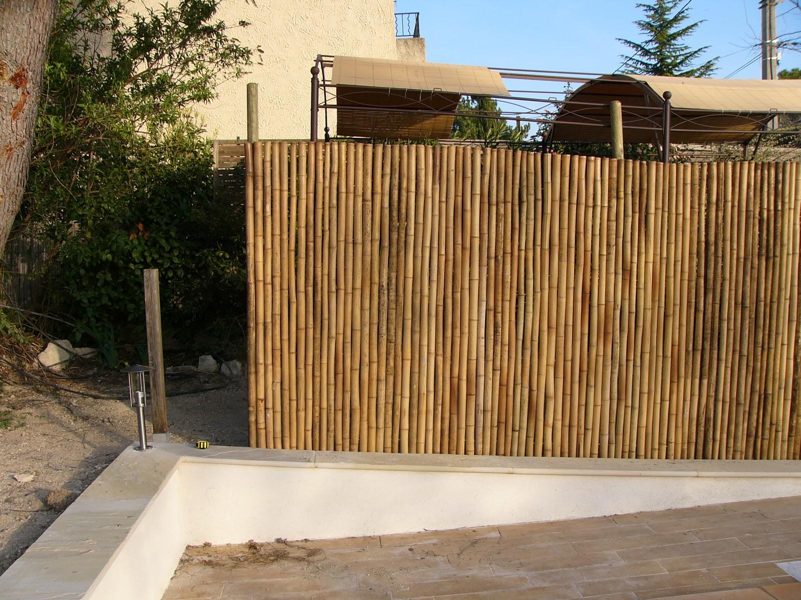 piscine eguilles palissade en bambou et pac. Black Bedroom Furniture Sets. Home Design Ideas