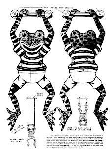 Mostly Paper Dolls Too!: The ACROBATIC FROG Cut-Out