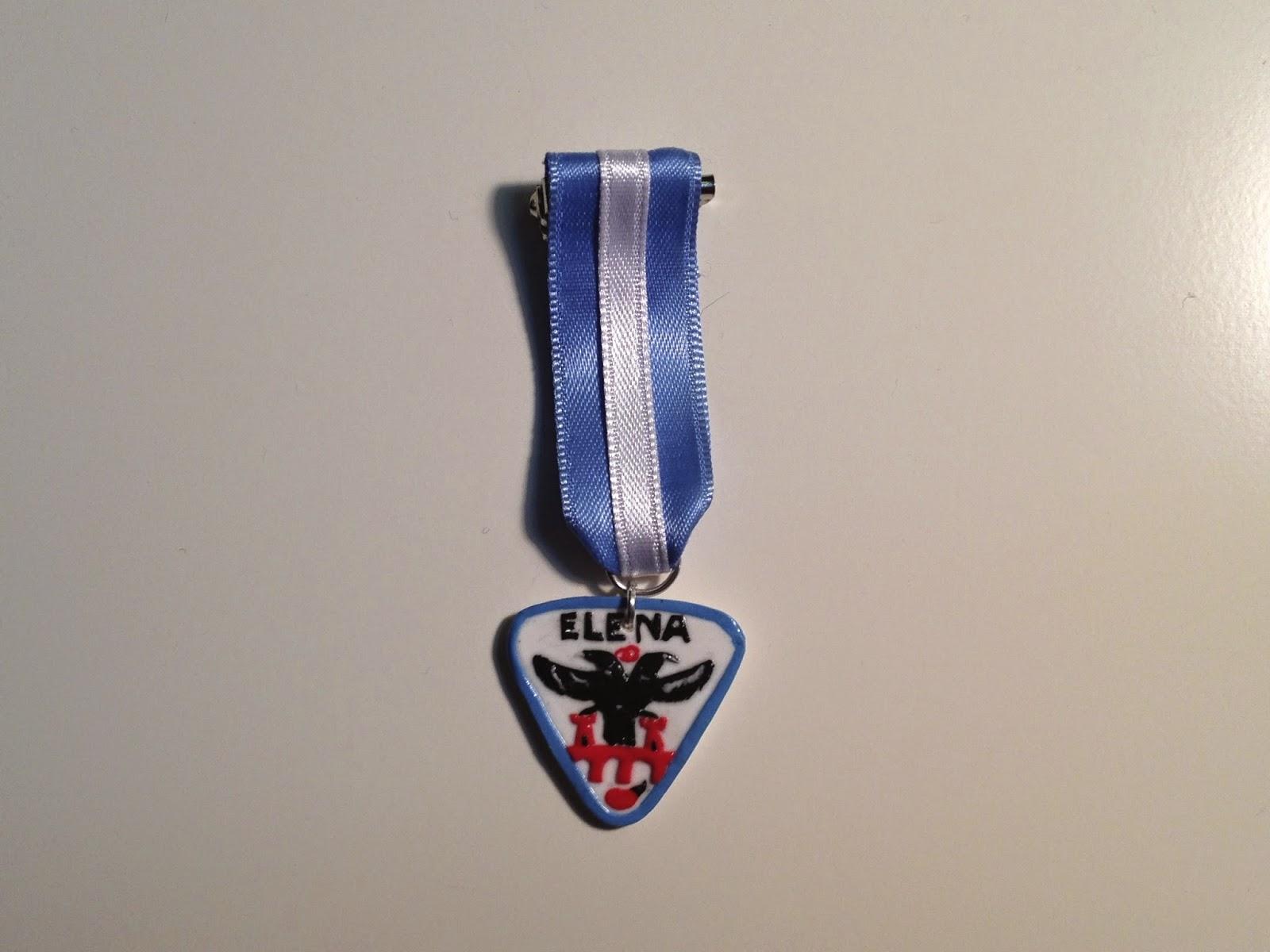 Chapa con logo de la Cuadrilla Los Veteranos