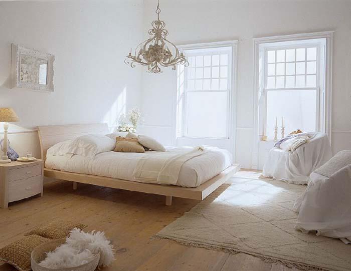 country tarzı beyaz yatak odası modelleri