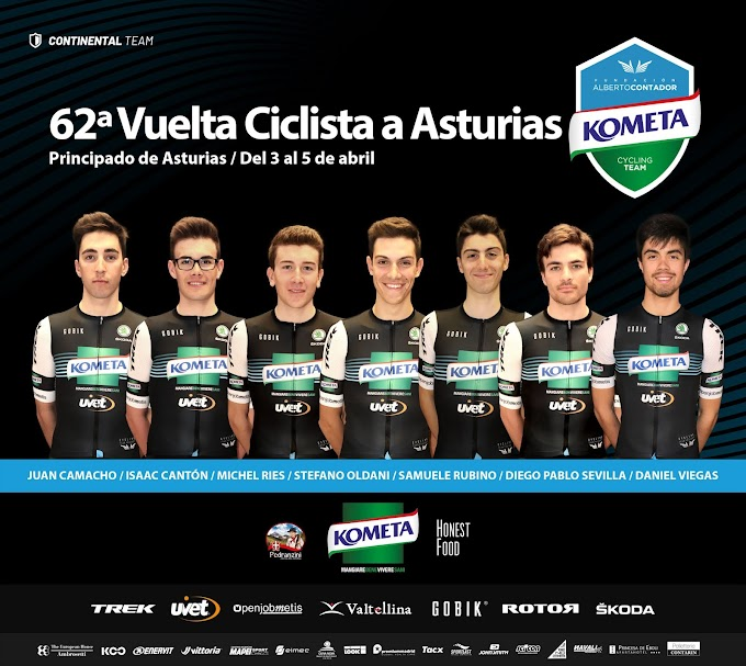 La Vuelta a Asturias examina el creciente buen momento del Kometa Cycling Team