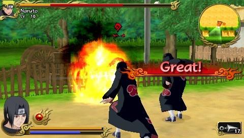 Tampilan Game Naruto Legends Akatsuki Rising
