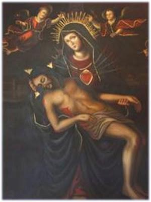 Imagen de la Virgen de la Salud Sosteniendo en sus Brazos a Su Hijo Muerto