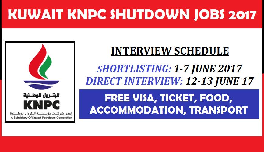 KUWAIT KNPC COMPANY SHUTDOWN URGENT JOBS   APPLY NOW   All