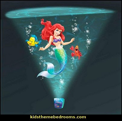 Little Mermaid Ariel Theme Bedroom - Mermaid decor - Disney The Little Mermaid decor - mermaid bedroom decor ariel themed - Disney Princess Ariel Furniture - Little mermaid princess Ariel Under the sea