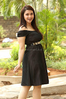Mannara Chopra in Short Off Shoulder Black Dress ~  Exclusive 064.JPG