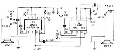 Intercom schematic