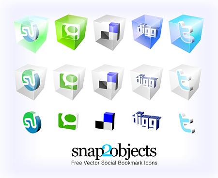 iconos redes sociales 3D