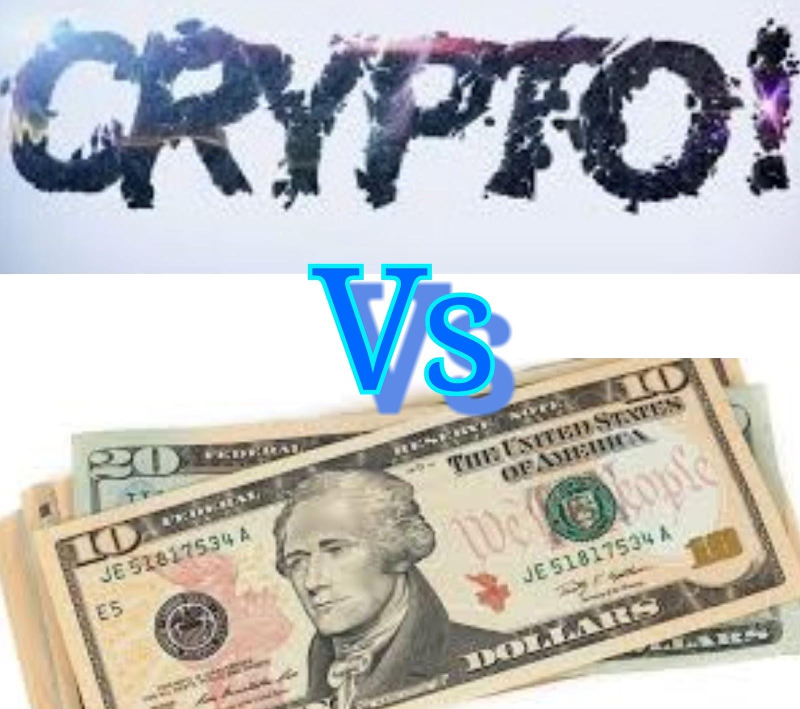 cryptocurrency vs printing money