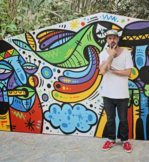 Street Art By Ruben Sanchez In the Al Bastakiya district of Dubai, United Arab Emirates.  3