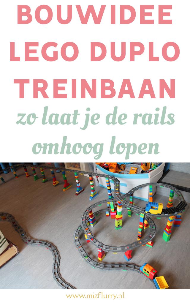 bouwidee lego duplo trein rails pinterest