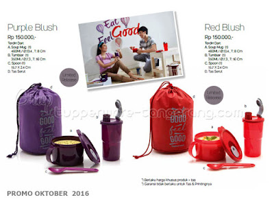 Purple Blush dan Red Blush ~ Tupperware Promo Oktober 2016