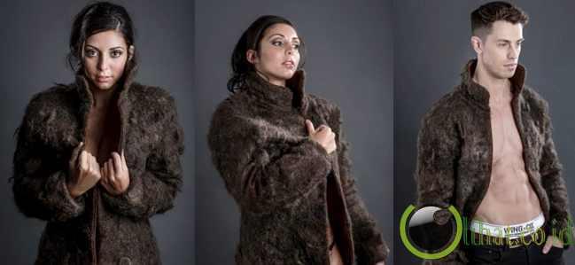 Mantel yang terbuat dari rambut dada pria