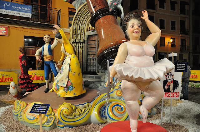 Ninot para Las Fallas, Valência, Espanha