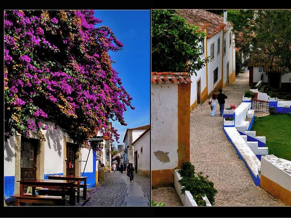 A look into inside the walls of Obidos
