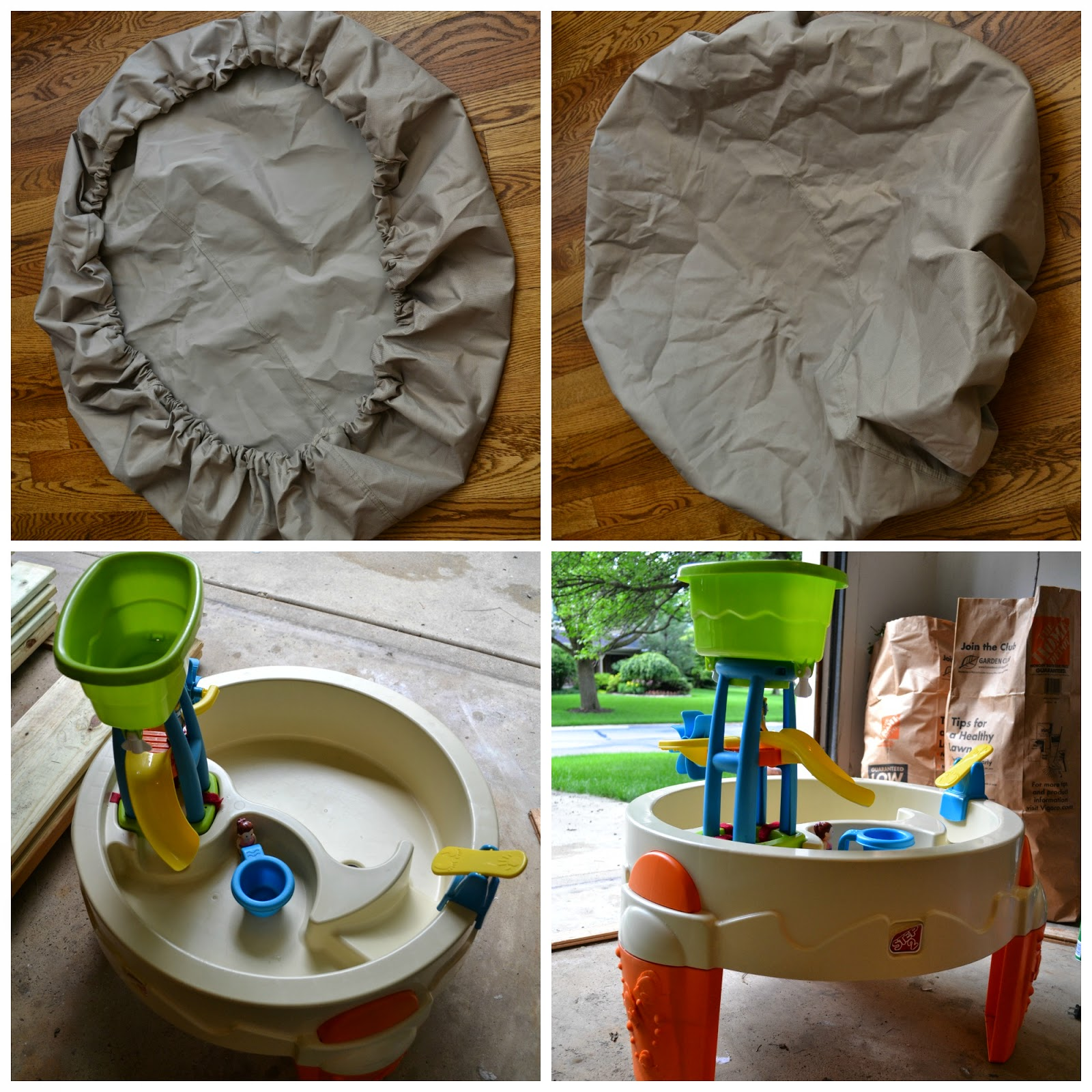 The Windy Wilsons: DIY, No Sew, No Tool Water Table Cover ...